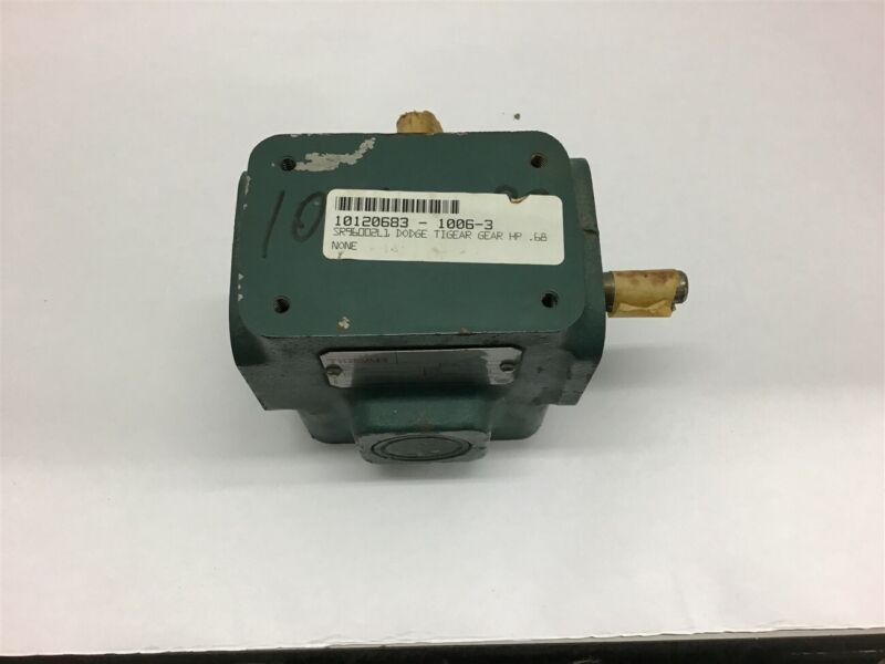 Dodge Tigear S133B010N000L1 Right Angle Gear Reducer 10:1 Ratio .80 Input HP