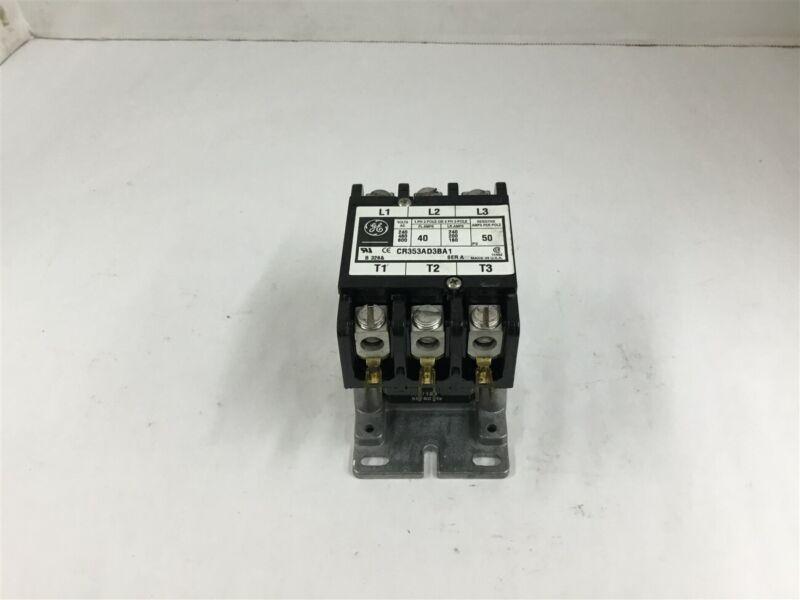 General Electric CR353AD3BA1 Contactor Ser A