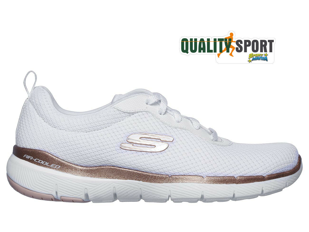 Palestra Appeal Scarpe 13070wtrg Donna 0 2019 Sportive Flex 3 Skechers Bianco Ybf7gy6Iv