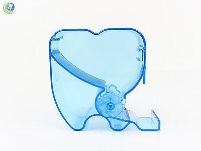 Dental Cotton Roll Dispenser Molar Shaped See-through Blue Color
