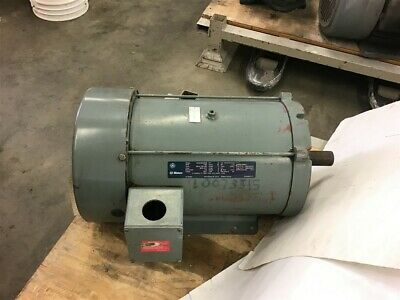 Ge 5k254bd205b 15 Hp Ac Motor 230460 Volts 1765 Rpm 4p 254t Frame 3 Phase 60 Hz