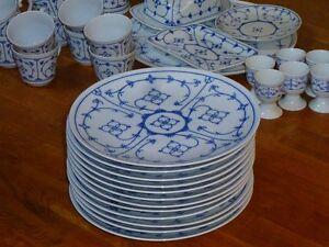 Winterling * Indisch Blau * Speiseteller 24,5 cm * Strohblume * Zwiebelmuster