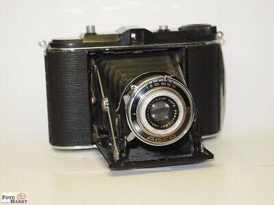 Agfa Isolette Black Folding Camera 6x6cm + Lens Igestar 6,3/8,5cm Lens