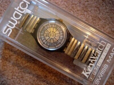 "NEW W/WARRANTY FLEX BAND AUTOMATIC ""MARCHAL"" SWATCH SAK102/103 WATCH+BONUSES"