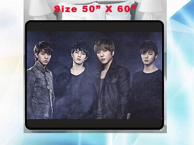Cnblue Kpop Blue Moon Korean Group Fleece Blanket 1 Home Gift 50 X60