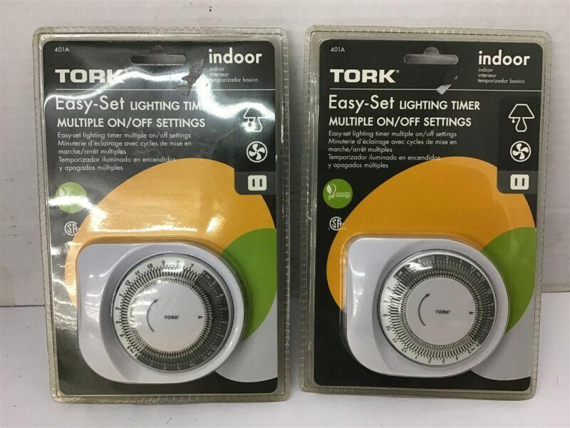 Tork 401A Easty-Set Lighting Timer Indoor Lot of 2