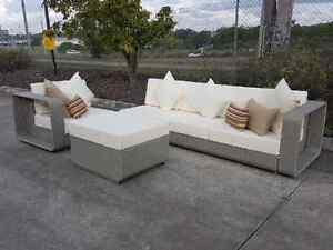 NEW! Outdoor Rattan Modular Lounge Wicker Garden Sofa Set 5 piece Kenmore Brisbane North West Preview