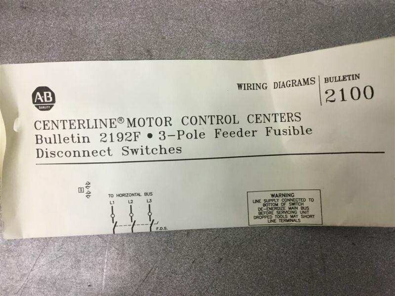 Allen-Bradley 60 Amp Motor Control Center 600 Volts 3 Phase