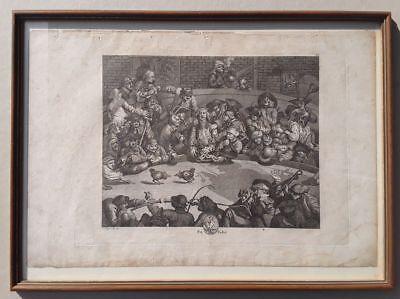 W. HOGARTH: PIT TICKET: THE COCKPIT, Kupferstich, gerahmt um 1800, Riepenhausen