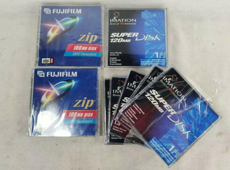 100MB 120MB Disk Diskette lot of 9 Disks Imation FujiFilm