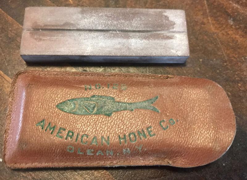 "Vintage American Hone #125 Sharpening Stone, Olean, NY, 3"""