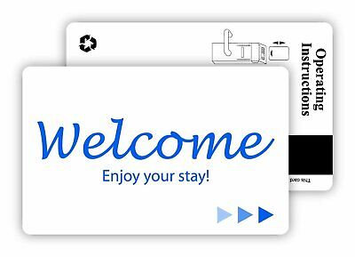 Hotel Motel Popular Welcome Key Cards Magnetic Stripe -500 Rfid-250 Case