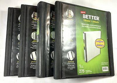 Better Binders Lot Of 4 1 D-ring 275 Sheet Capacity Durable 4 Binders