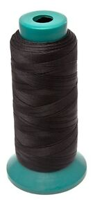 Heavy Duty 100% Nylon Thread  black color 1000 yard for sewing leather goods usa