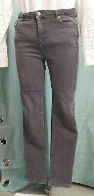 Hobbs London Womens Jeans Grey Size 10 Straight Leg