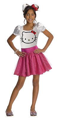 New Girls Hello Kitty Pink Tutu Costume Dress Medium 8-10 for child 5-7