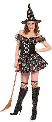 Tag der Toten Hexe Damenkostüm NEU - Damen Karneval Fasching Verkleidung Kostüm