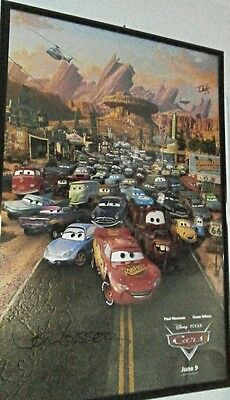 Disney Pixar Cars movie Poster (one sheet) Signed autographed By John Lasseter