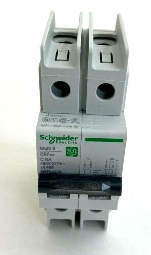 Schneider Electric M9F42205 2 Pole Miniature Circuit Breaker 277v  60Hz 5 Amp