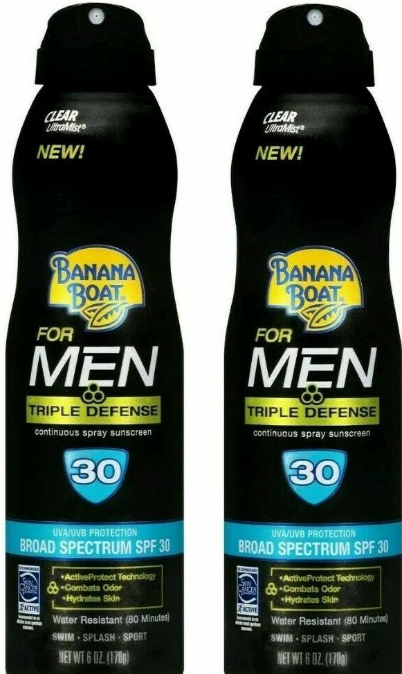 Banana Boat Sunscreen for Men Triple Defense Broad Spectrum