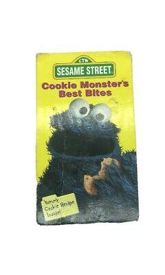 Cookie Monster's Best Bites. Sesame Street 1995 VHS