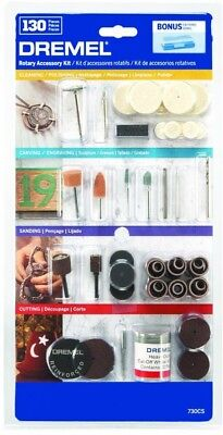 Dremel 130 Piece All-Purpose Rotary Accessory Kit w/Storage