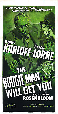 The Boogie Man Will Get You (1942) Boris Karloff Horror movie poster print 3](Boogie Man Movie)