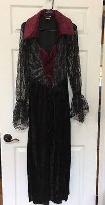 Halloween Costumes Dress In Black (In Character Women's Adult Vampire  Black Costume Size M Halloween Theater)