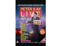 Peter Kay live tour tickets Leeds First Direct Arena 3/10/18