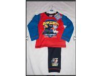 New Paw patrol pyjamas sizes 18-24, 2-3 & 4-5