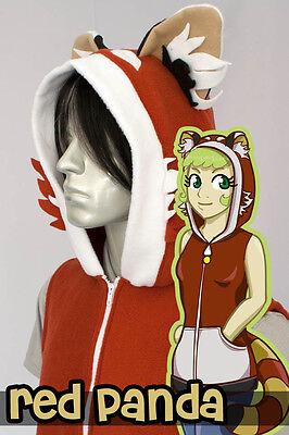 Kid Panda Costume (KIDS Red Panda Hoodie Vest, New, Kigurumi, Cosplay,)