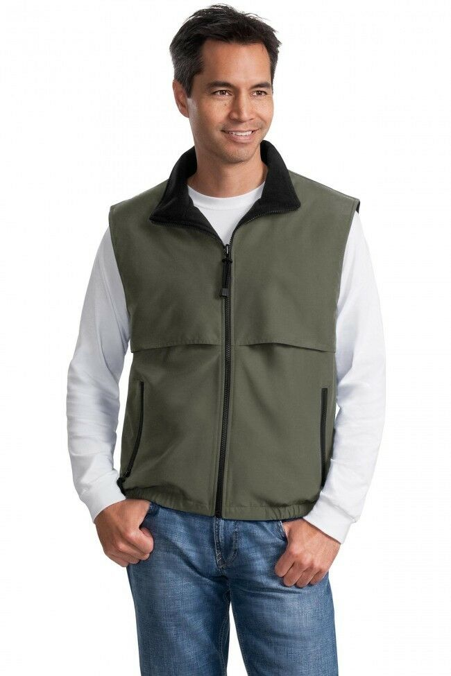 NWT! PORT AUTHORITY VEST J749 MEN'S REVERSIBLE TERRA-TEK NYL