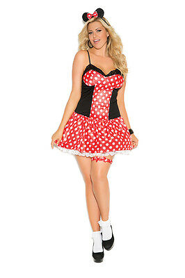 Minnie Mouse Costume Woman (3 Piece Costume Minnie Mouse  - Plus & Regular Sizes Adult)