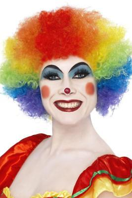 ADULTS CRAZY CLOWN RAINBOW WIG CURLY ADULTS AFRO MENS LADIES FANCY DRESS HAIR
