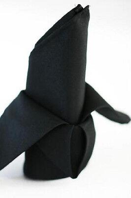 12 black restaurant dinner cloth linen napkins 20x20 (Black Napkins)