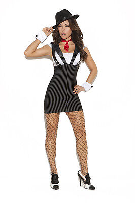 3 Pc. Costume! Gangster! Plus & Regular Sizes! Adult Woman Mobster Villian