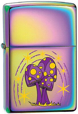 Purple Mushroom Toad Stool Unique Spectrum Chrome Zippo Lighter Rare
