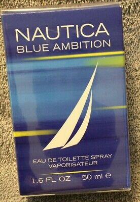Nautica Blue Ambition Men's Cologne 1.6 oz. 50 ml New Factory Sealed in box
