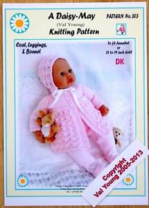 DOLL'S KNITTING PATTERN FOR 18 -19 INCH DOLL by Daisy May No 303 for Annabell