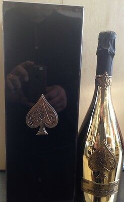 Armand De Brignac Ace Of Spades Brut Champagne. Full Gold Bottle. Case & Booklet