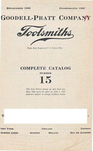 Goodell-Pratt Company Toolsmith Complete Catalog Number 15