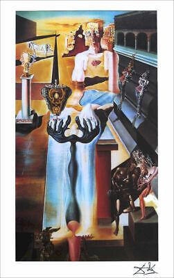 Salvador Dali Gala In LINCOLN VISION Litho Print Facsimile Signed 29-3//4 x 22