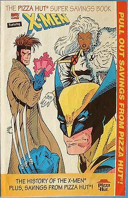 THE HISTORY OF THE X-MEN PIZZA HUT MINI COMICS COUPON BOOK GIVEAWAY PROMO (The Hut Voucher)