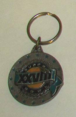 SUPERBOWL XXVIII 28 Metal Georgia Dome 1993 KEY CHAIN Ring Keychain