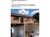 1 bedroom cottage barn conversion to rent