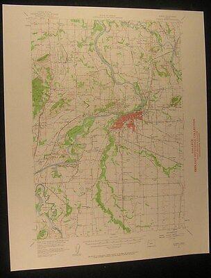 Albany Oregon Orleans Tangent Granger 1959 vintage USGS original Topo chart map