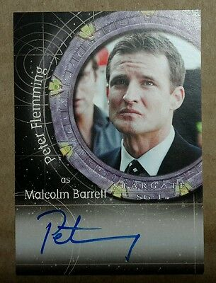 Stargate SG-1 Autograph Card - A93 Peter Fleming  (Malcolm Barrett)