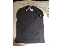 Stone island jumper grey RRP £165 new with tags lambswool
