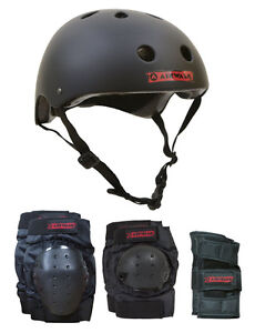 AIRWALK Skateboard Helmet Elbow/Knee/Wrist Pad Combo JUNIOR Size KIDS Bmx Inline