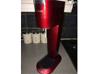 Red Sodastream with new gas